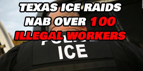 over100illegalsarrestediniceraidsdonaldtrumpobamabuildthewallimmigrants
