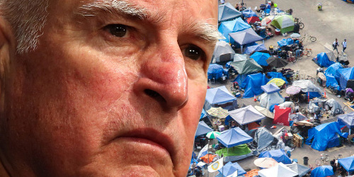 jerry brown homeless california